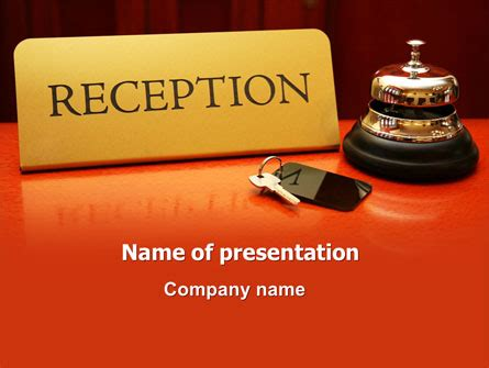 Hotel Reception Presentation Template For Powerpoint And Hotel Powerpoint Presentation Templates
