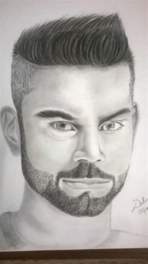 Portrait Drawers by Virat Kohli Realistic Pencil Portrait Drawing Timelapse