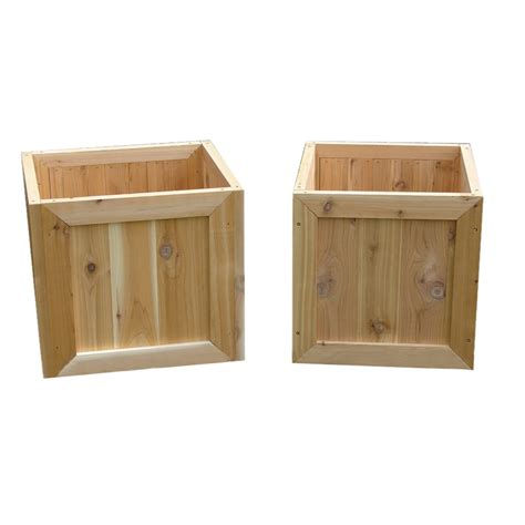 Wood Planter Boxes Lowes by Shop 18 In H X 19 In W X 17 In D Wood Outdoor