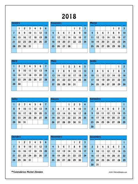 Calendario 2018 Dias Uteis Calend 225 Rios Para Imprimir 2018 Brasil