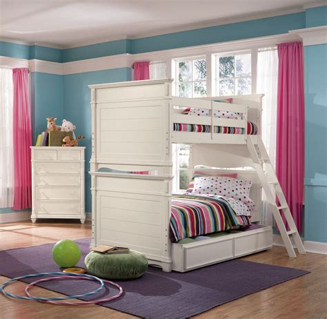 kids bunk bed bedroom sets lea hannah 3 piece bunk bed kids bedroom set in white