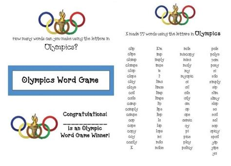 5 Letter Words You Can Make With The Periodic Table how many words can you make using the letters in olympics