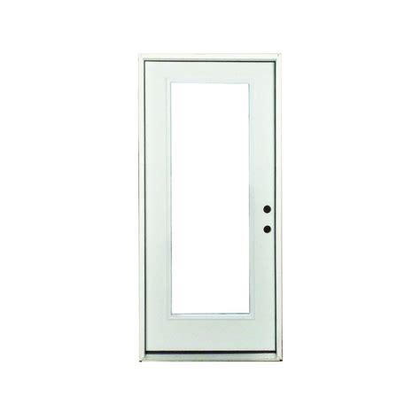 36 X 78 Exterior Door Steves Sons 36 In X 80 In Premium Lite Primed White Steel Prehung Front Door