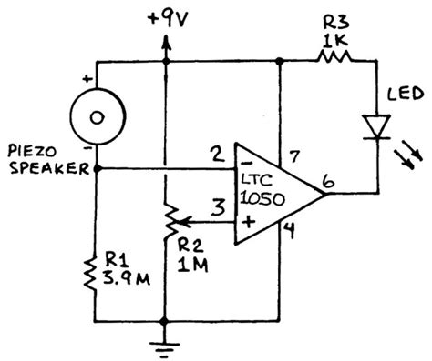 piezoelectric sensor circuit diagram vibration sensor circuit kit electronic projects circuits