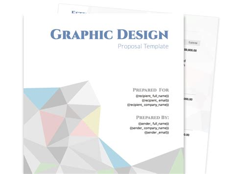graphic design proposal layout free business proposal templates