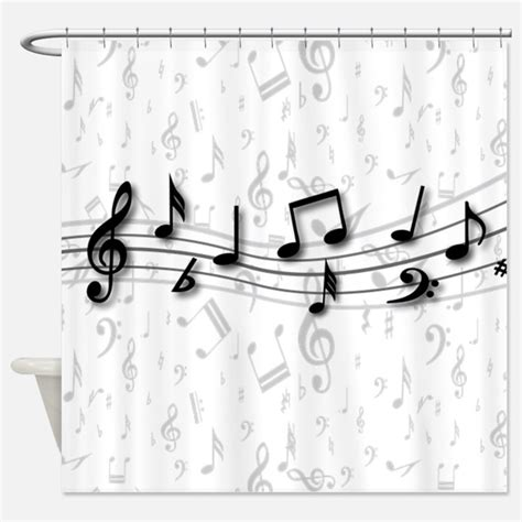 Musical Shower by Musical Shower Curtains Musical Fabric Shower Curtain Liner