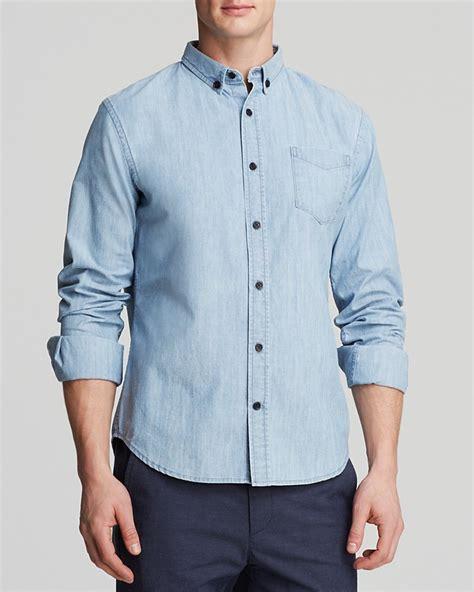 Light Blue Denim Shirt by Light Blue Denim Shirt Vince Denim Woven Button