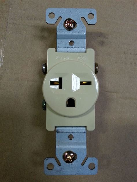 10 pc single receptacle 20 20a 250v ac outlet 2 pole