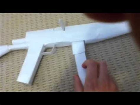 How To Make A Paper Mp5 - paper mp5 tutorial