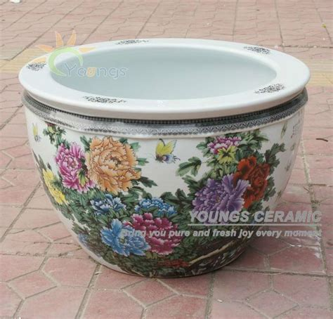wholesale large chinese famille rose ceramic plant pots