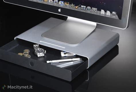 scrivania imac justmobile drawer il cassetto in alluminio per imac