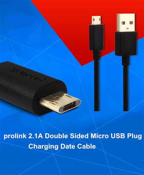 A3775 Vivan Micro Usb Data Cable 2 1a For Android Original prolink 2 1a sided micro usb charging data