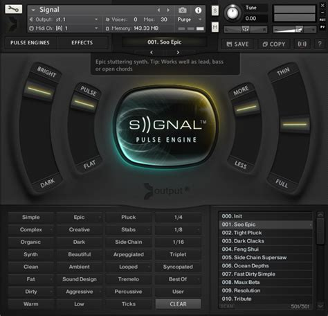 Output Sounds Signal V1 Kontakt Library Instrument Vsti Vst output sounds collection sles kontakt sles y