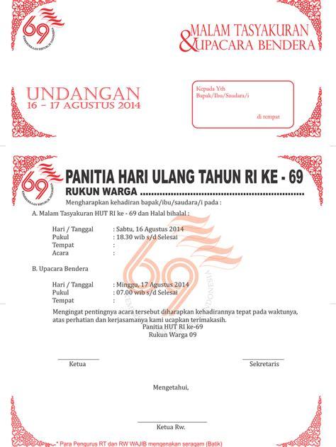 januari 2013 contoh isi undangan