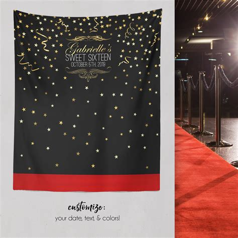 backdrop design sweet 17 red carpet sweet 16 step and repeat backdrop sweet 16 party