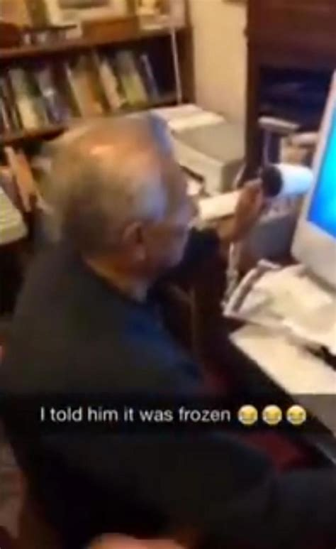 Hair Dryer To Fix Computer grandfather tries to thaw frozen computer with hair