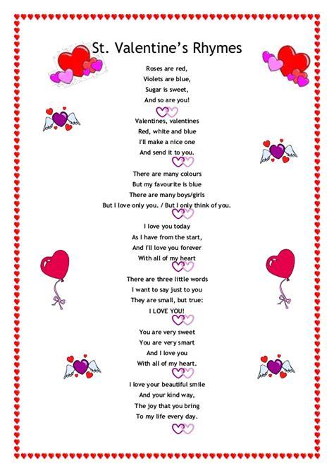 valentines sts valentines rhymes thin
