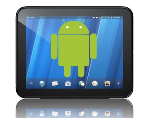 android tablet running the world s cheapest tablet 99 hp touchpad to run android 2 3 soon androidpit