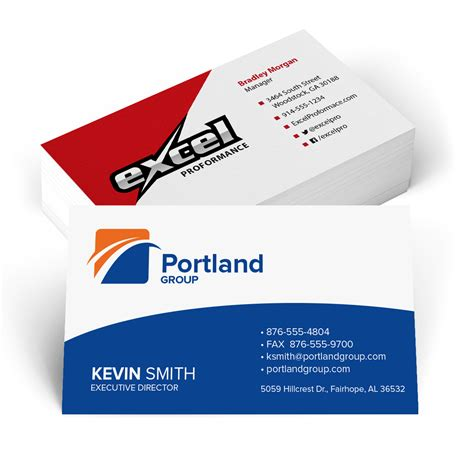 business card page template png standard color business cards mines press
