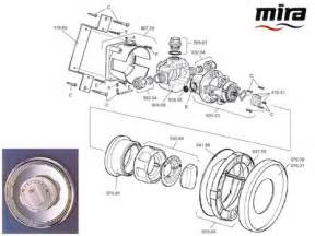 Mira Extra Bath Shower Mixer mira response 22mm shower head holder white grey mira