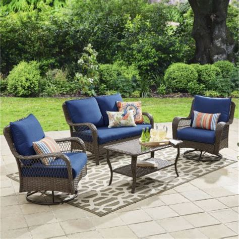 patio furniture conversation set better homes and gardens colebrook 4 outdoor