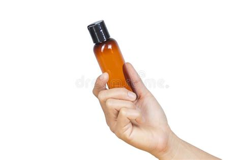 hand holding pump bottle stock image image  hand
