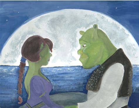 free shrek painting shrek and fiona by silleress on deviantart