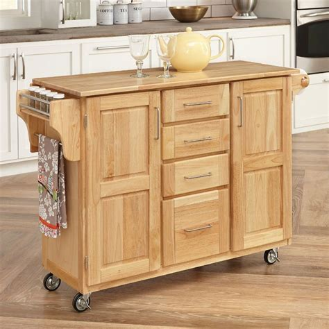 casters for kitchen island shop home styles 52 5 in l x 18 in w x 36 in h natural