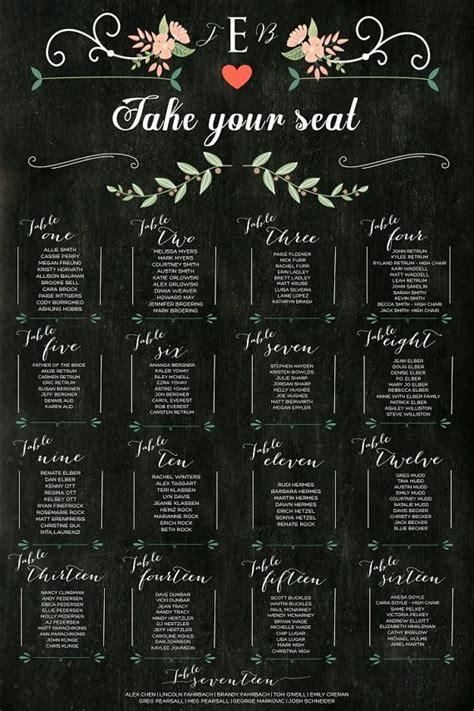 wedding table assignment chalkboard wedding table assignments board wedding