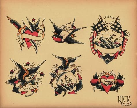 old school tattoo flash school flash by calico