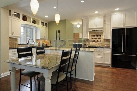 Granite Kitchen Island Table by Kitchen With Granite Island And Table Ideas For The