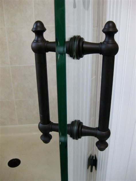 Shower Door Pull Handle Rubbed Bronze Glass Shower Door Handles New York By Glass Llc