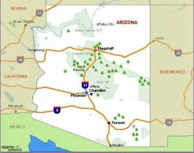 arizona state park map arizona csites arizona national parks arizona state