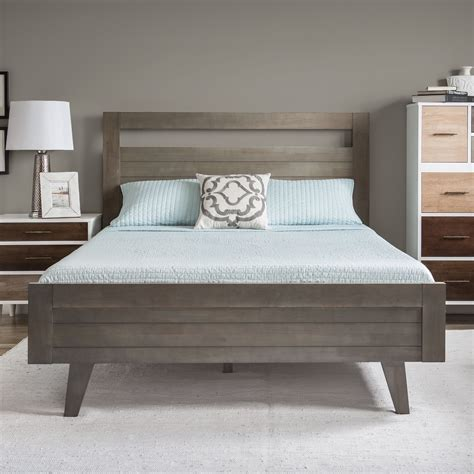 queen sized bed features  bright butter white finish