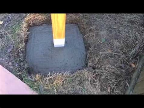 install  led security light post concrete