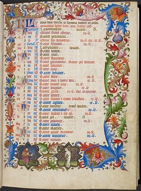 Calendriers Des Saints Les Jours F 233 Ri 233 S Au Moyen 194 Ge Jean Borghino