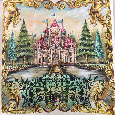 enchanted forest colored enchanted forest by johanna coloring book inspiration