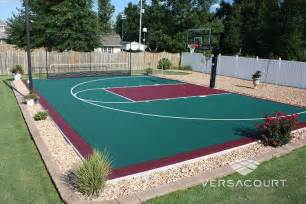 Basketball Half Court Dimensions Backyard by Backyard Basketball Court With 72 Quot Pro Premium Ho Op