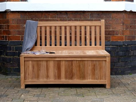 patio storage bench teak storage bench 120cm windsor teak garden storage bench 120cm