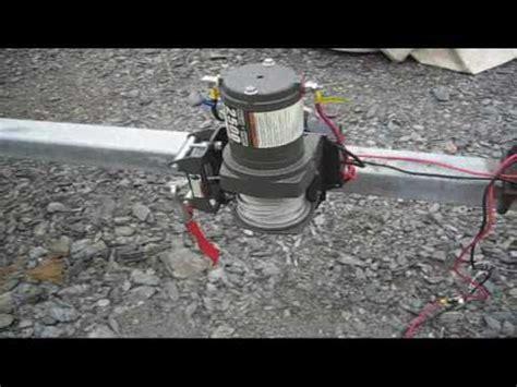 installing 12k badland winch on trailer doovi - Electric Boat Winch Harbor Freight