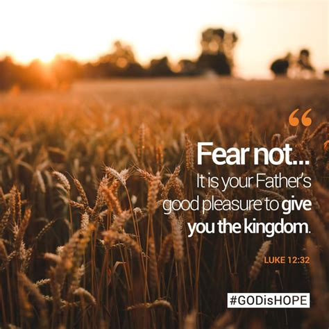 Luke 1 12 The Kingdom Has Come fear not it is your s pleasure to give you