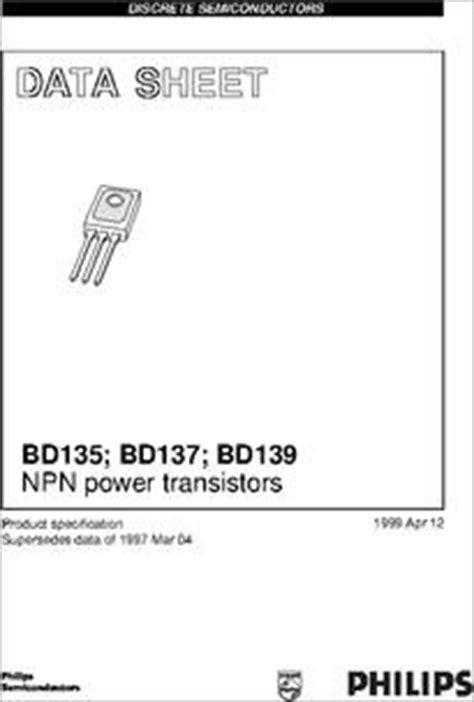 datasheet transistor npn bd137 bd139 datasheet bd135 bd137 bd139 npn power transistors