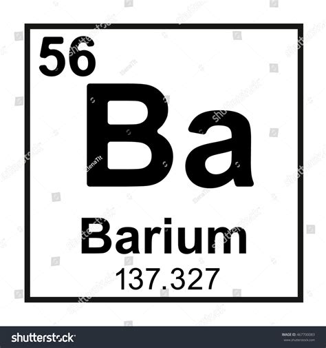 Periodic Table Ba by Periodic Table Element Barium Stock Vector 467700083