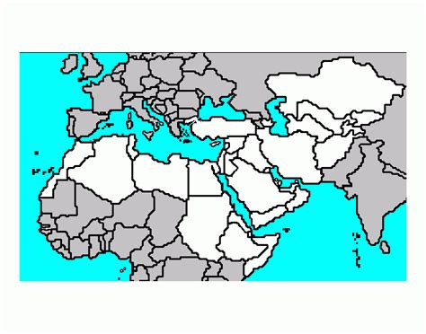 middle east map test printable africa middle east map quiz purposegames