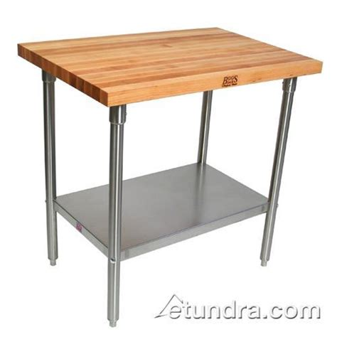 stainless steel kitchen island table 24x36 with adjustable john boos sns18 36 quot x 120 quot maple top work table etundra