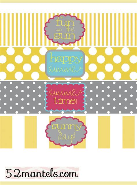 labels for water bottles template free 52 mantels diy water bottle labels plus a free printable