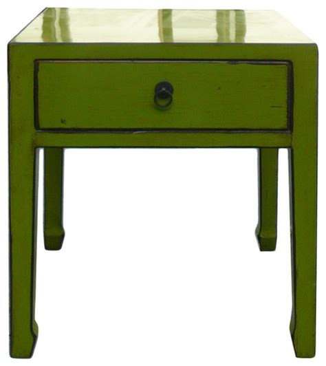 Green Nightstand Table Square Lime Green Side Table With Drawer Asian