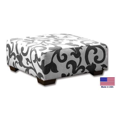grey and white ottoman gray and white patterned ottoman