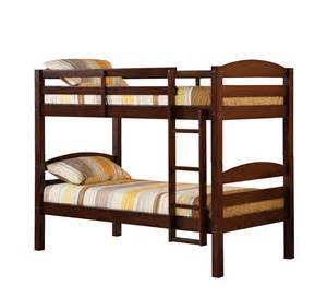 solid wood bunk bed espresso bwstotes - Solid Wood Bunk Beds