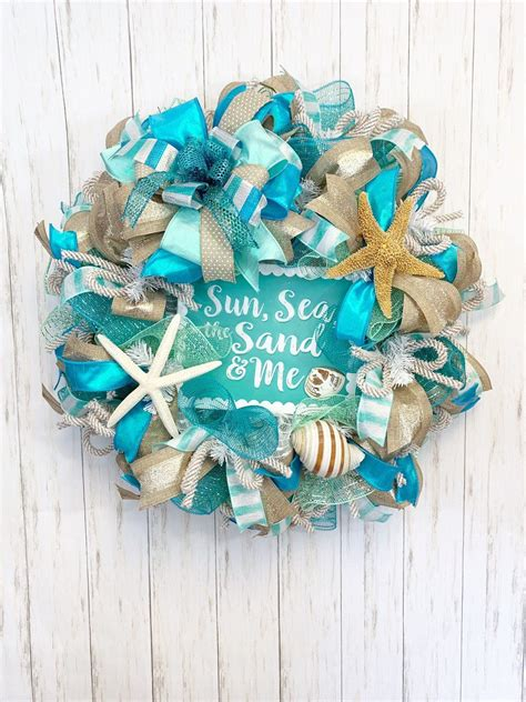 beach wreath everyday wreath sea wreath beach decor